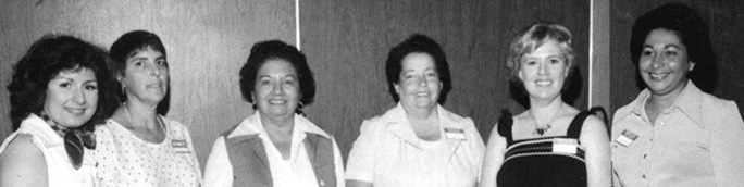Group photo of 1st generation NACOPRW Miami board directors during 1978