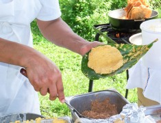 Making alcapurrias at the NACOPRW Miami picnic 2014